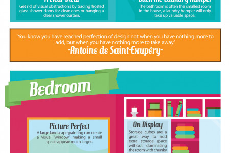 33 Ways to Make a Small Space Feel Bigger Infographic