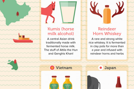 34 Unbelievably Weird Alcoholic Drinks From Around The World Infographic