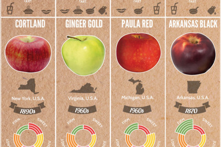 37 Apple Varieties Around the World & Their Flavor Profiles Infographic