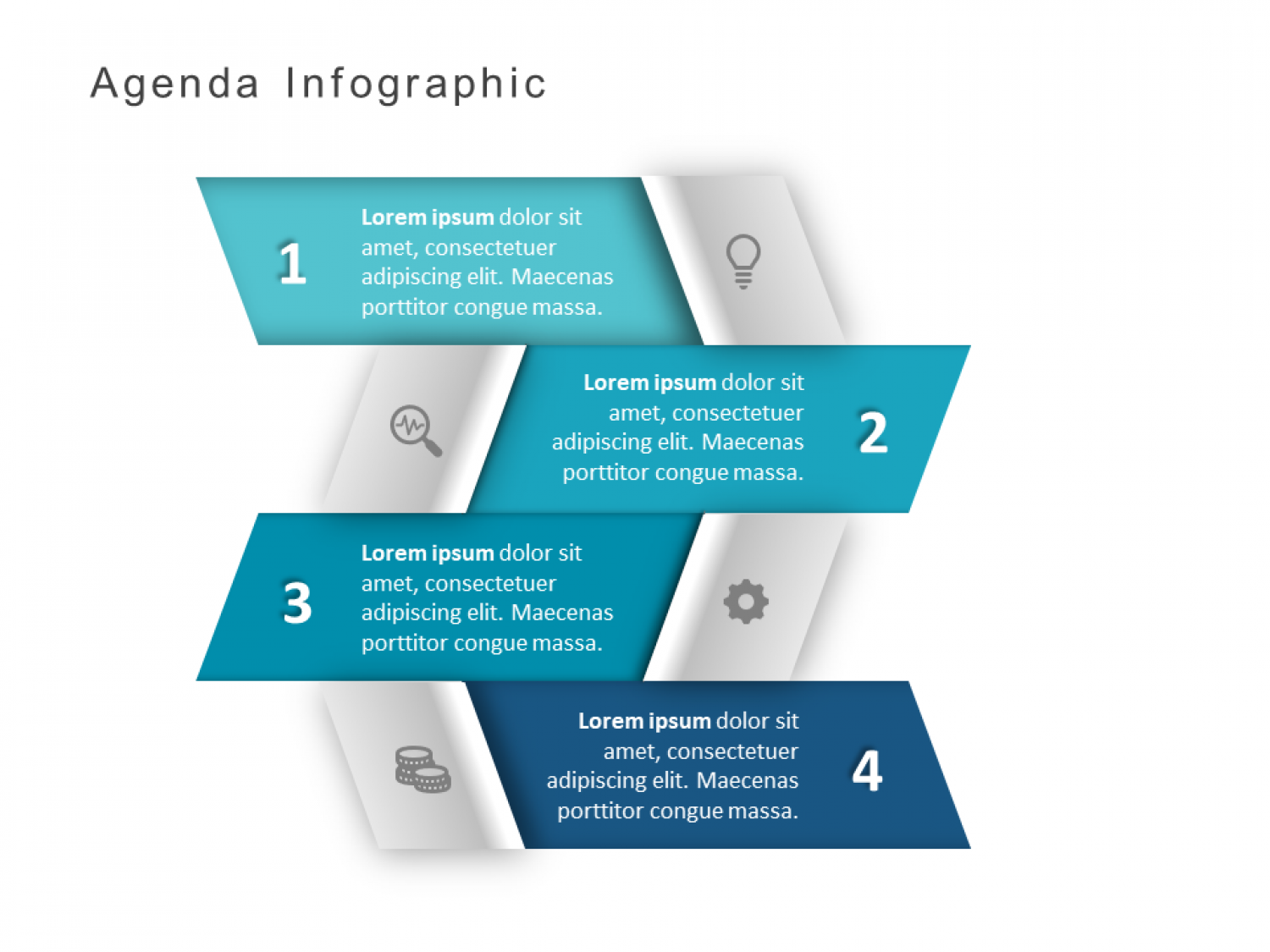 3D Agenda PowerPoint Template Infographic