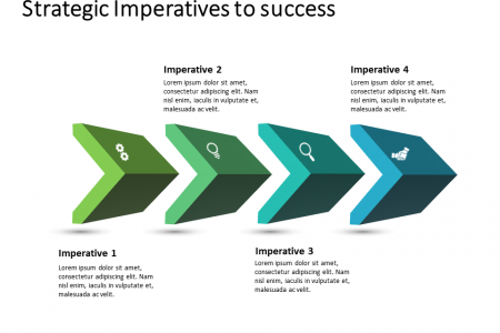 3D Chevron 4 Steps PowerPoint Template Infographic