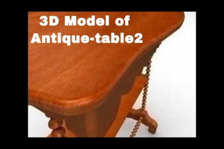3D Model of Antique-table2. Review Infographic