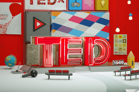 3D TED Illustration Infographic