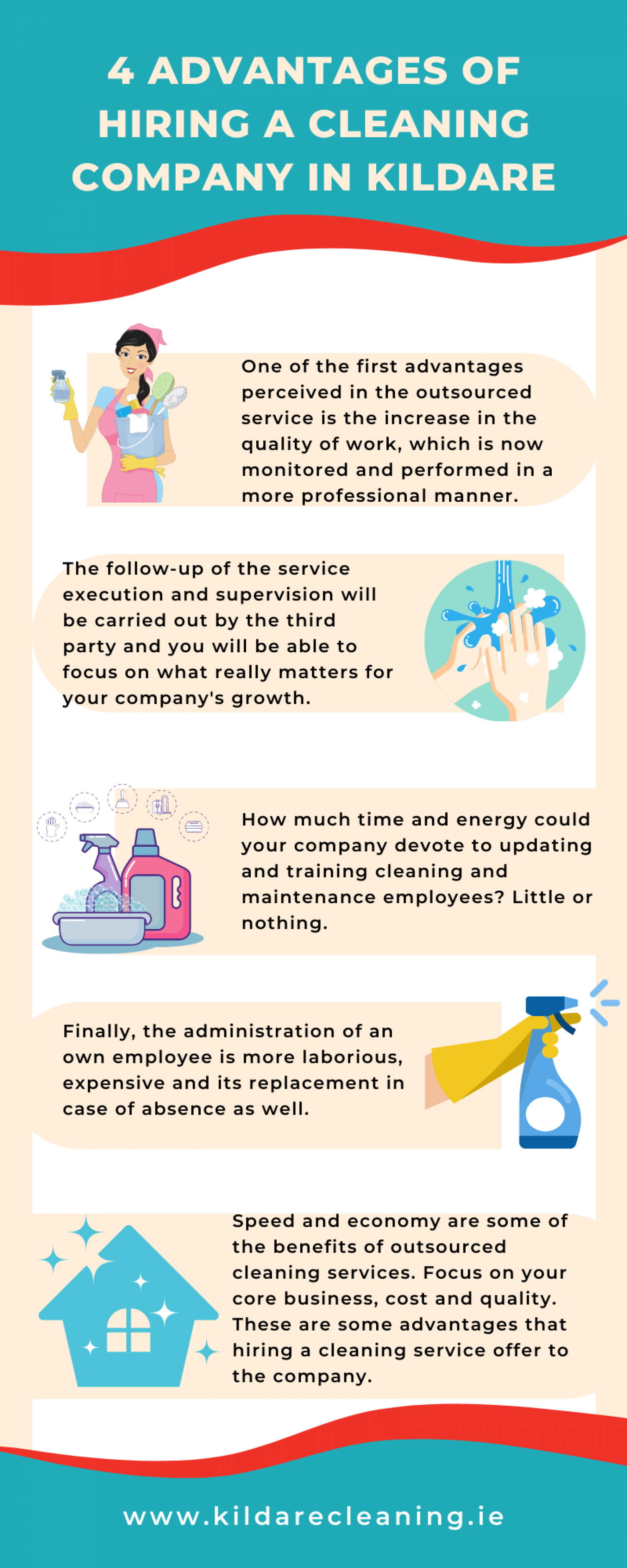 4 Advantages of Hiring a Cleaning Company in Kildare Infographic
