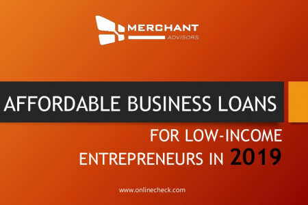 4 affordable business loans for low income entrepreneurs in 2019 Infographic