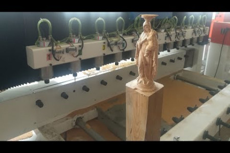4 axis 12 heads CNC router for carving wooden buddha statue Infographic