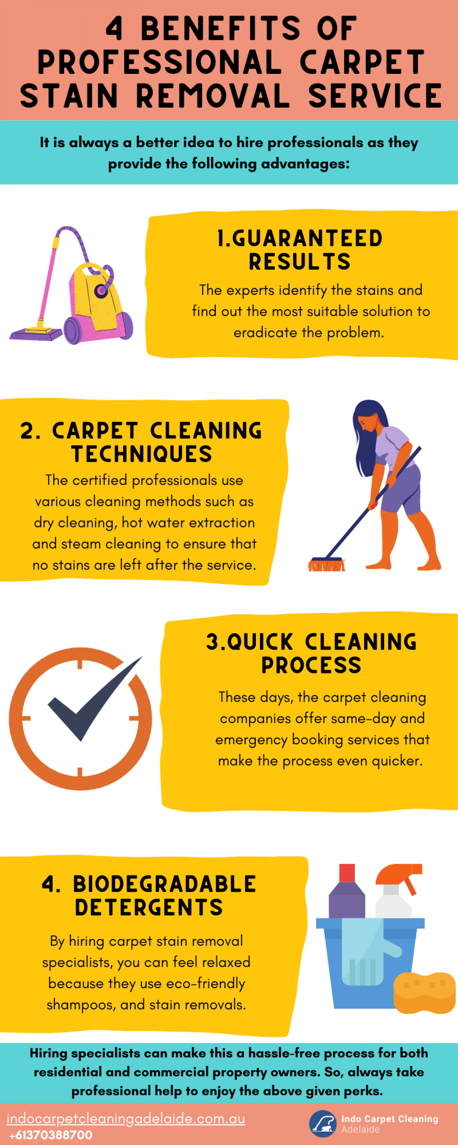4 Benefits of professional carpet stain removal service Infographic