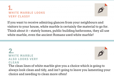 4 Benefits of White Marble Kitchen Countertops Infographic