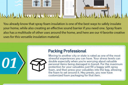 4 Creative Uses for Spray Foam Infographic