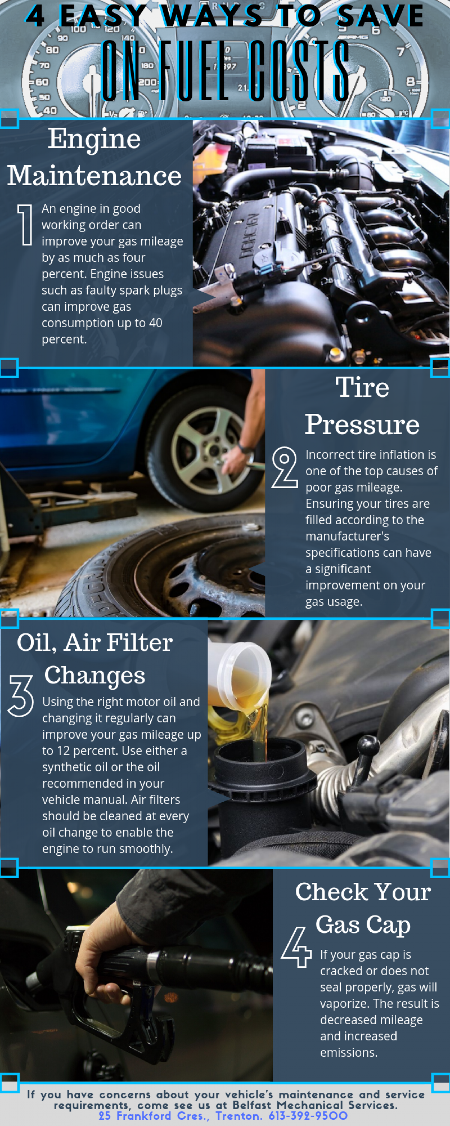 4 Easy Ways to Save on Fuel Costs Infographic