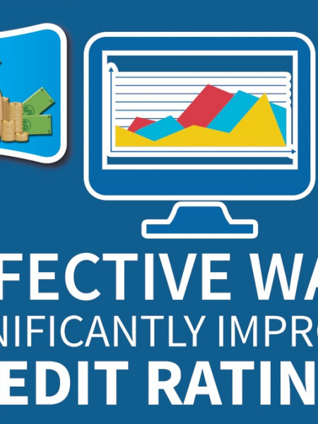 4 Effective Ways To Improve Your Credit Score Infographic