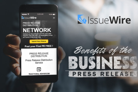 4 Essential Benefits of Business Press Release Writing and Distribution Services Infographic