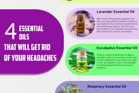 4 Essential Oils That Will Get Rid of Your Headaches Infographic