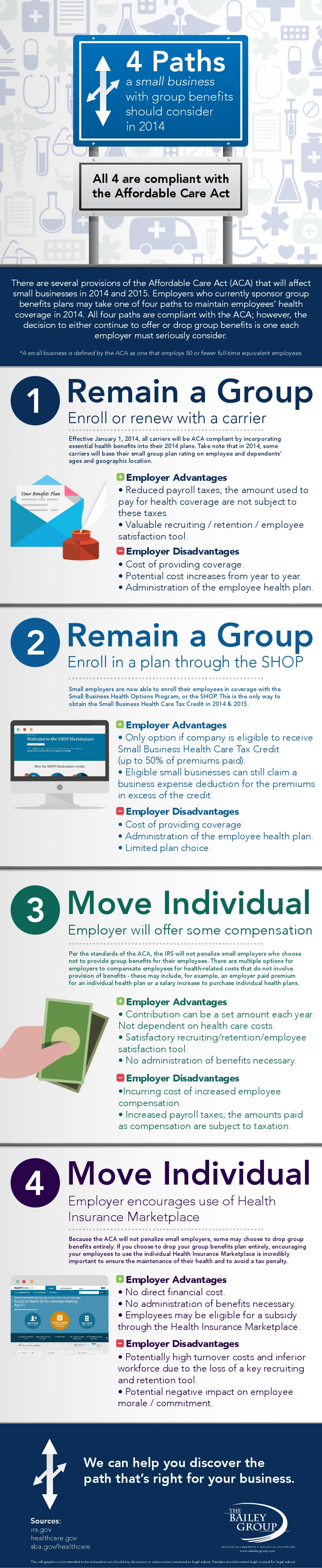 4 Paths a Small Business With Group Benefits Should Consider in 2014 Infographic
