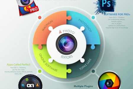 4 Photo Editors Infographic