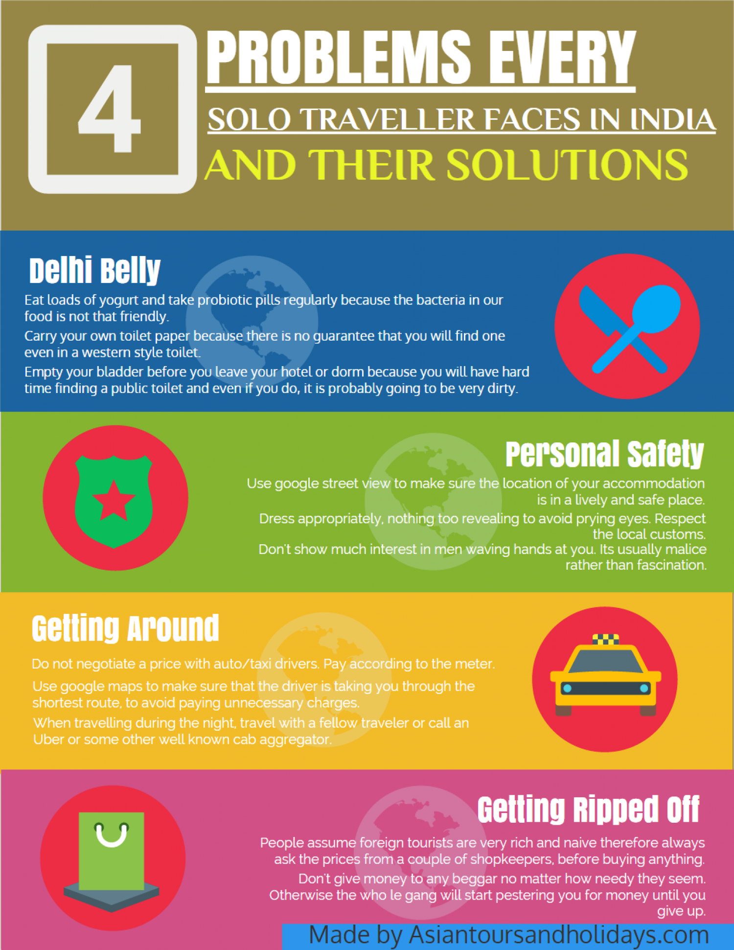 4 Problems travelers face in India ( and their solutions ) Infographic