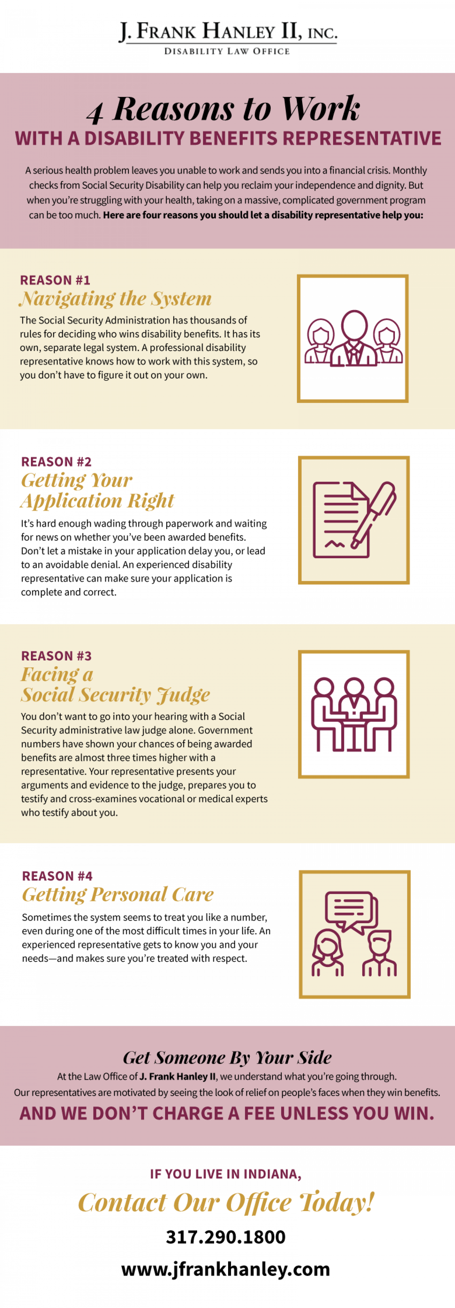 4 Reasons to Work with a Disability Benefits Representative Infographic