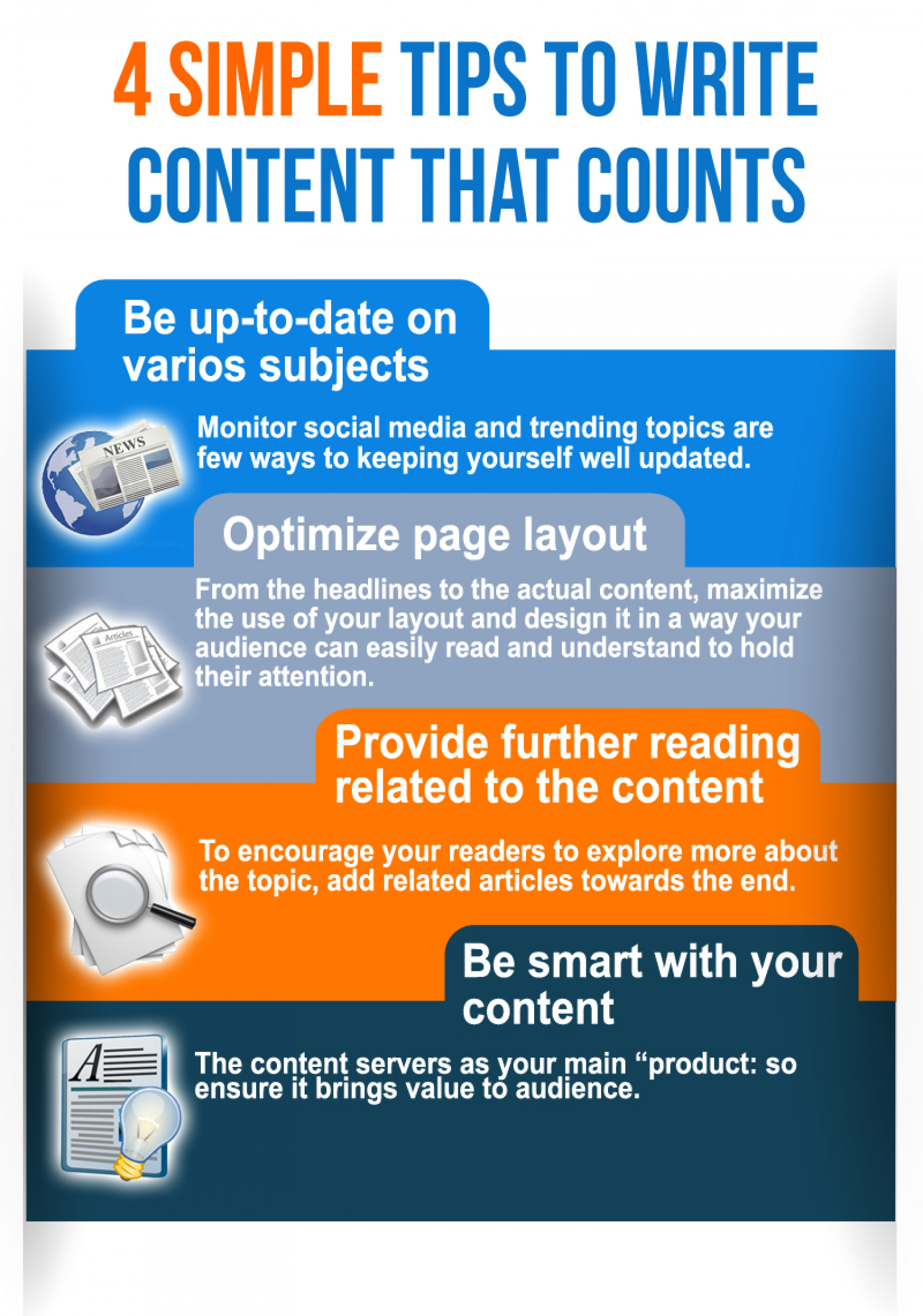 4 Simple Tips To Write Content That Counts Infographic