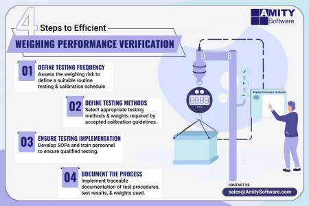 4 Steps to Efficient Weighing Performance Verification Infographic
