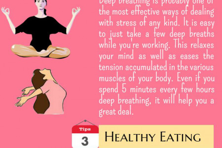 4 Stress Relief Tips for Working Mom Infographic