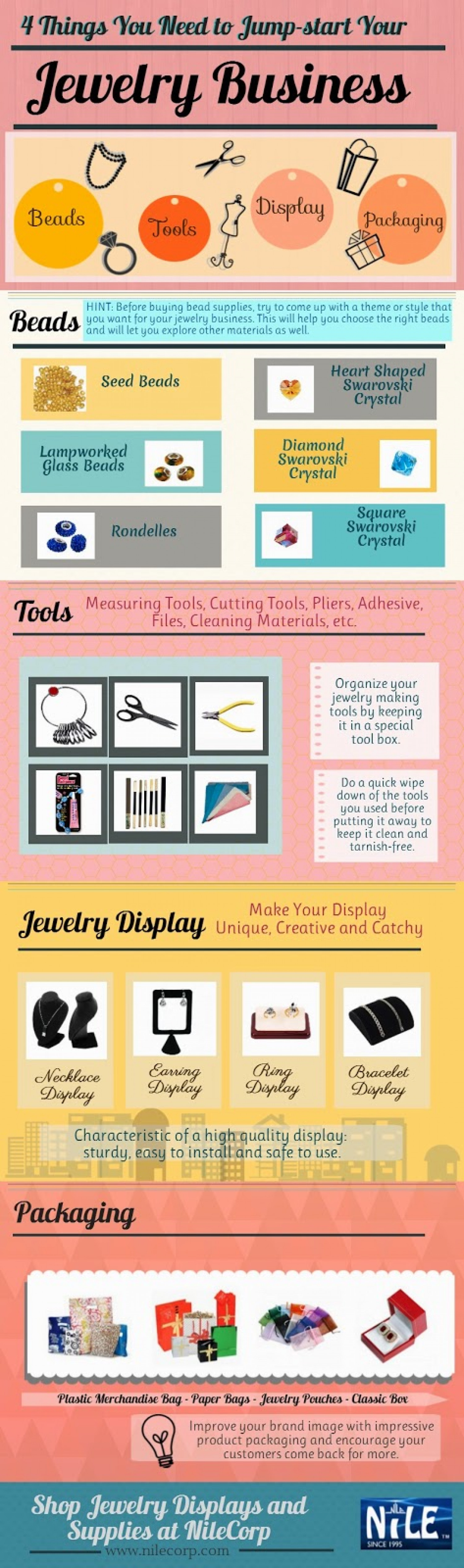 4 Things You Need to Jump-start Your Jewelry Business Infographic