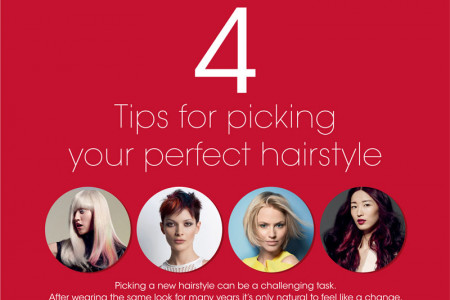 4 Tips For Picking Your Perfect Hairstyle Infographic