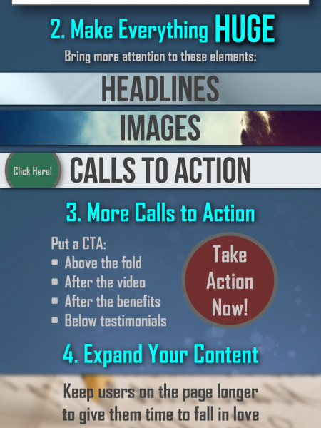 4 Tips That Will Double Landing Page Conversions Infographic
