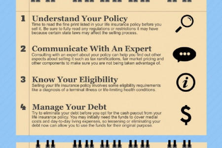 4 Tips to Sell Your Life Insurance Policy Infographic