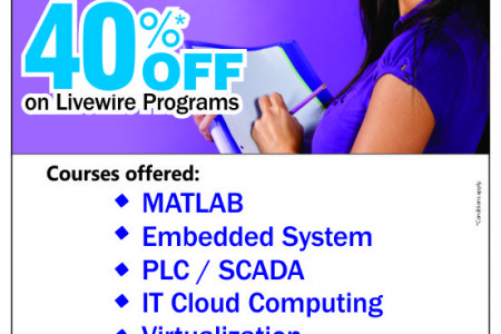40% Off on Livewire Programs Infographic