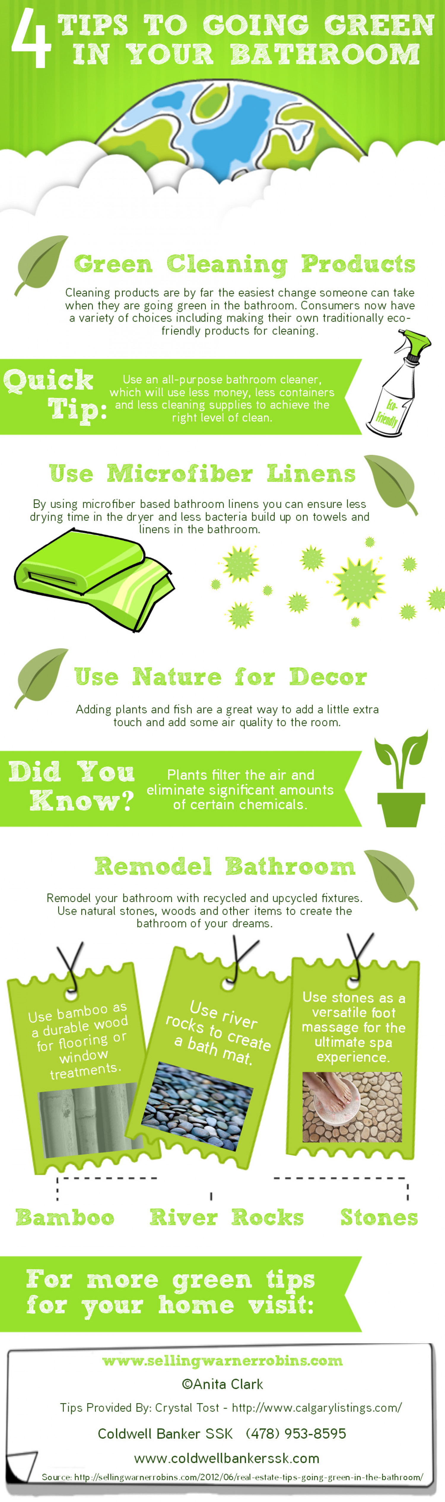 4 Tips to Going Green in Your Bathroom  Infographic