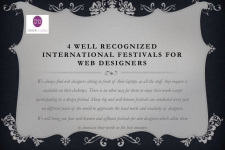 4 Well Recognized International Festivals for Web Designers Infographic