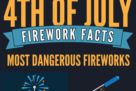 4th of July Firework Facts Infographic