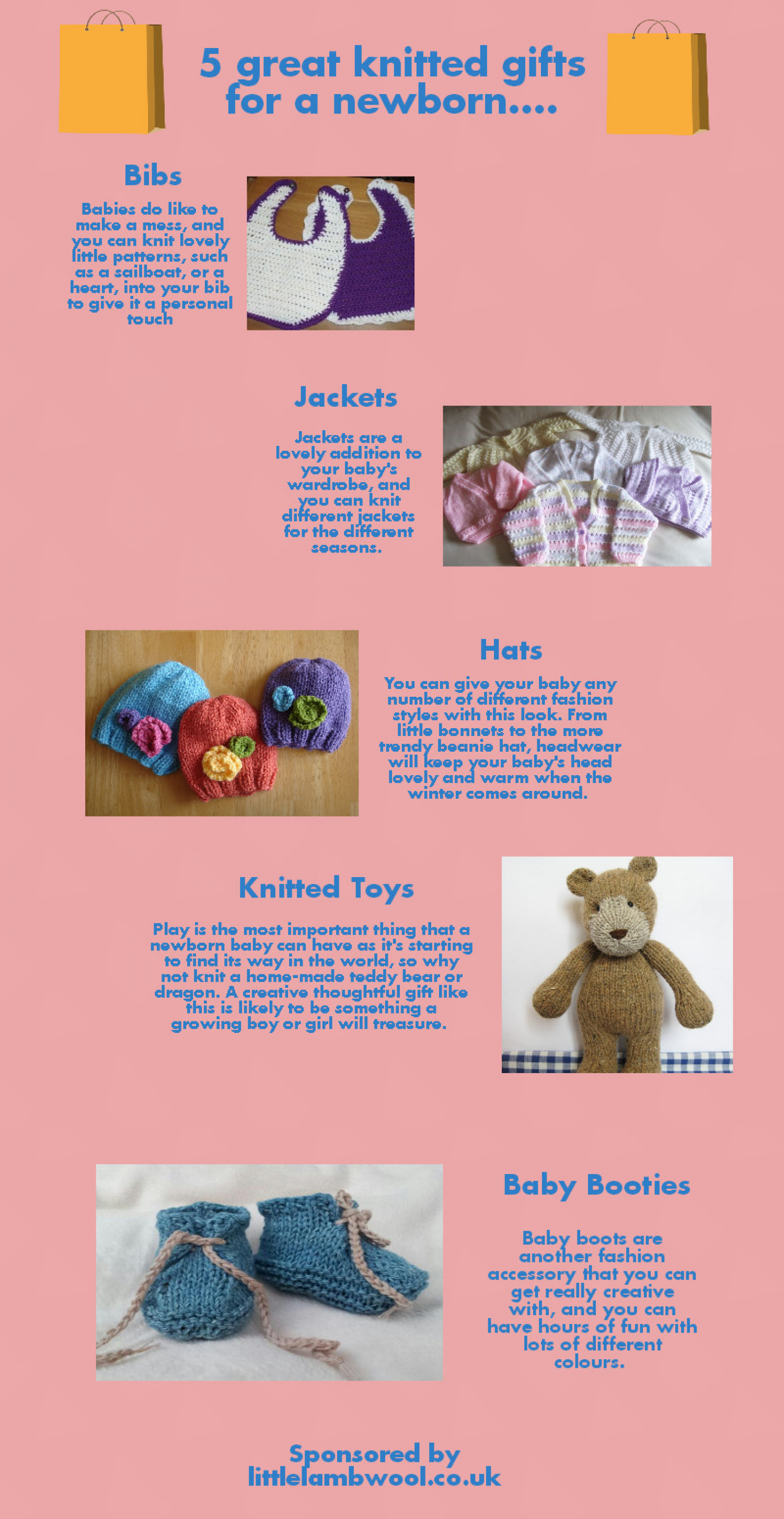 5  Great Knitting Ideas for A Newborn  Infographic