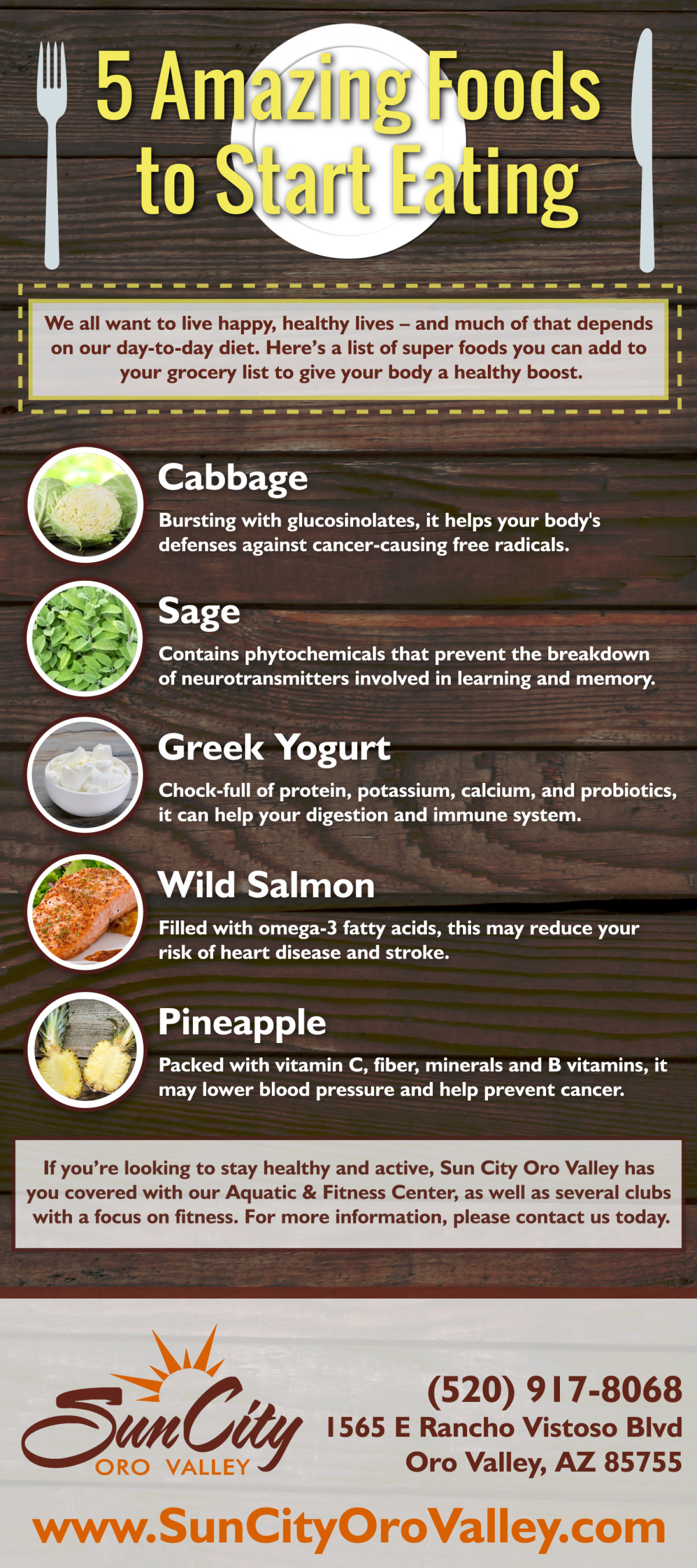5 Amazing Foods To Start Eating Infographic