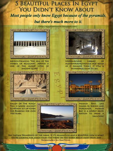 5 Beautiful Places In Egypt You Didn't Know About Infographic