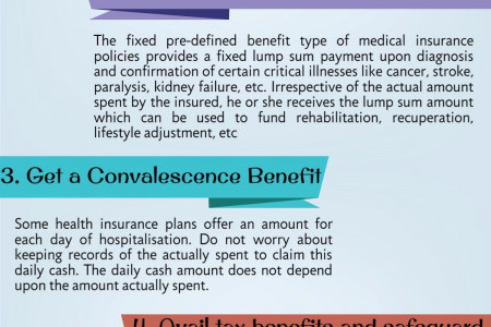 5 benefits of health insurance Infographic
