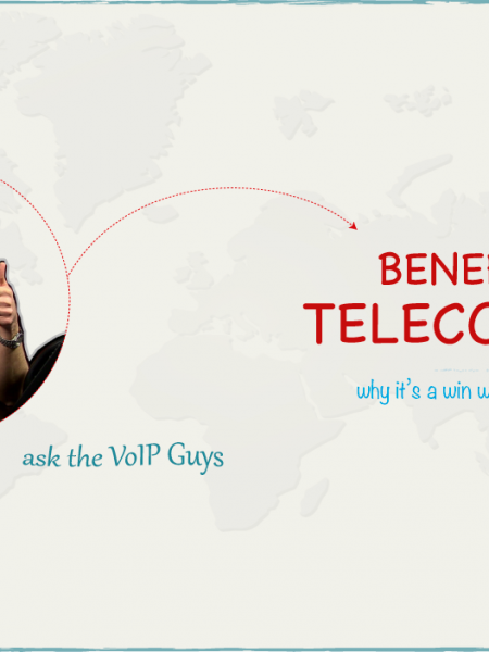 5 Benefits of Telecommuting - ask the VoIP Guys Infographic