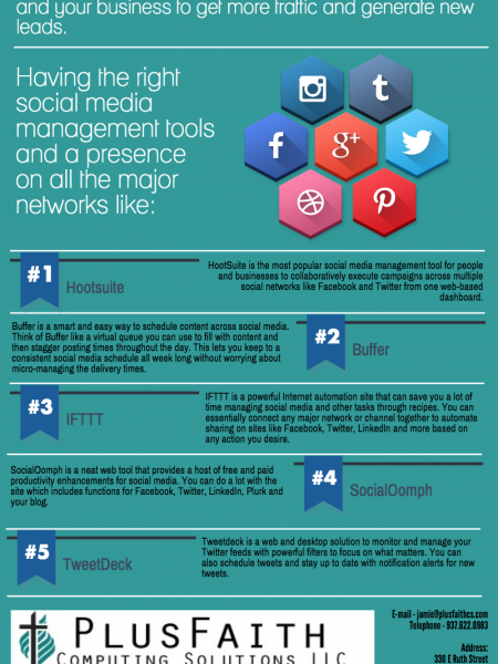 5 Best Social Media Management Tools Infographic
