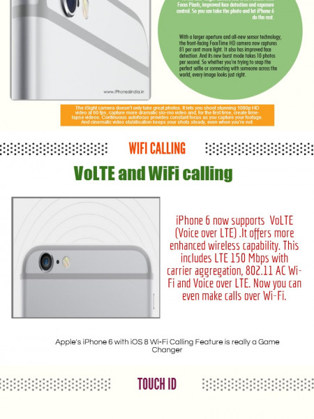 5 Best Special features of iPhone 6 Infographic