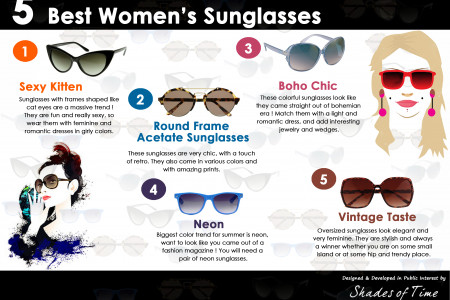 5 Best Women Sunglasses Infographic