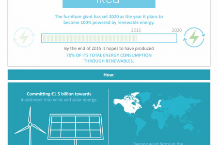 5 Big Brands Using Renewable Energy & What Small Businesses Can Learn Infographic