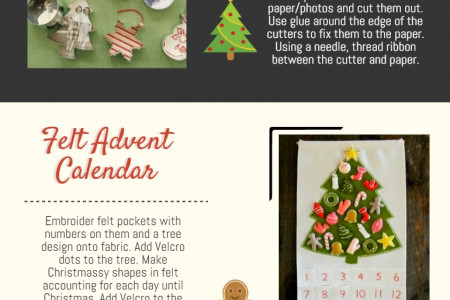 5 Christmas Craft Ideas Infographic