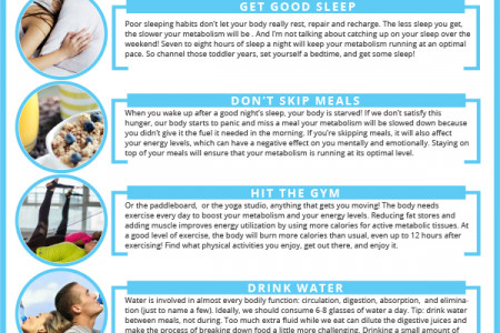 5 Daily Habits to Boost Your Metabolism Infographic