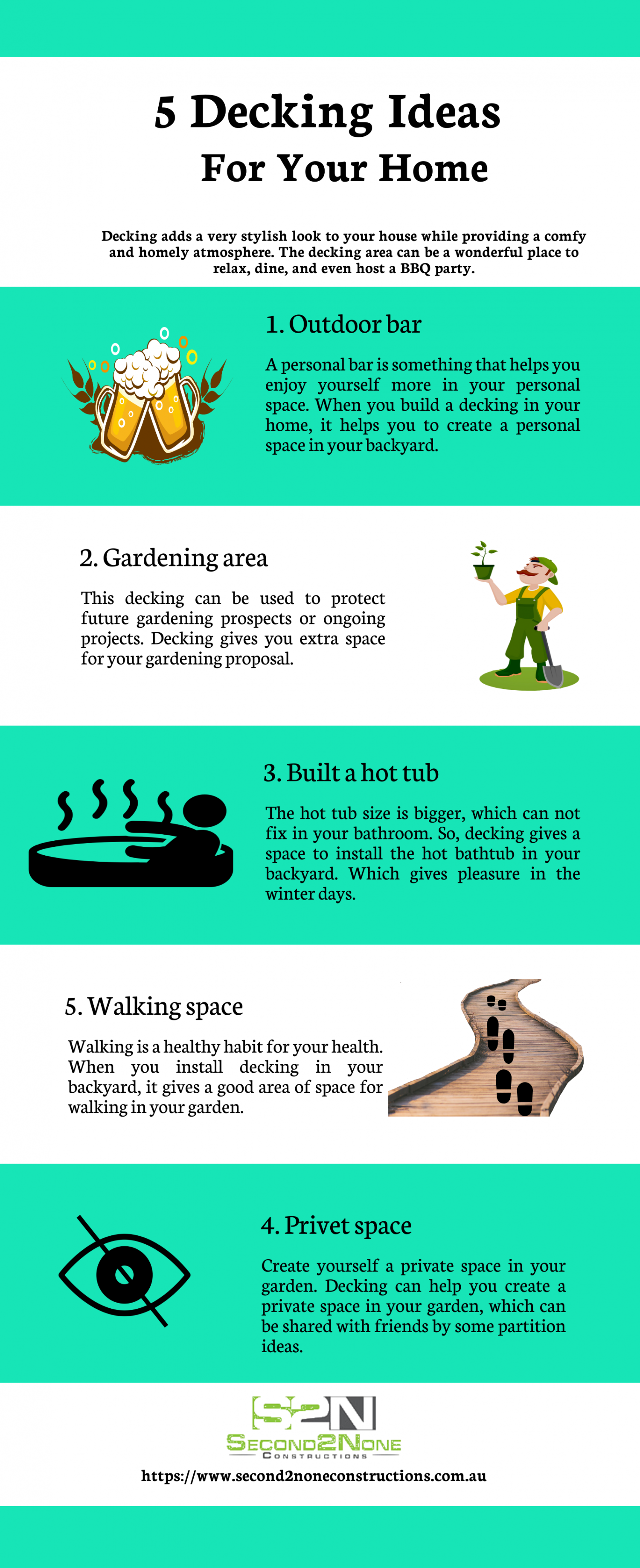 5 Decking Ideas For Your Home Infographic