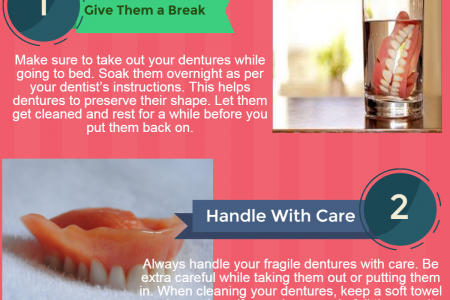 5 Dental Care Tips to Handle Dentures without Damaging Them Infographic