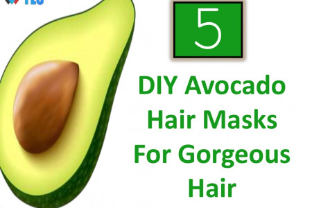 5 DIY Avocado Hair Masks For Gorgeous Hair Infographic