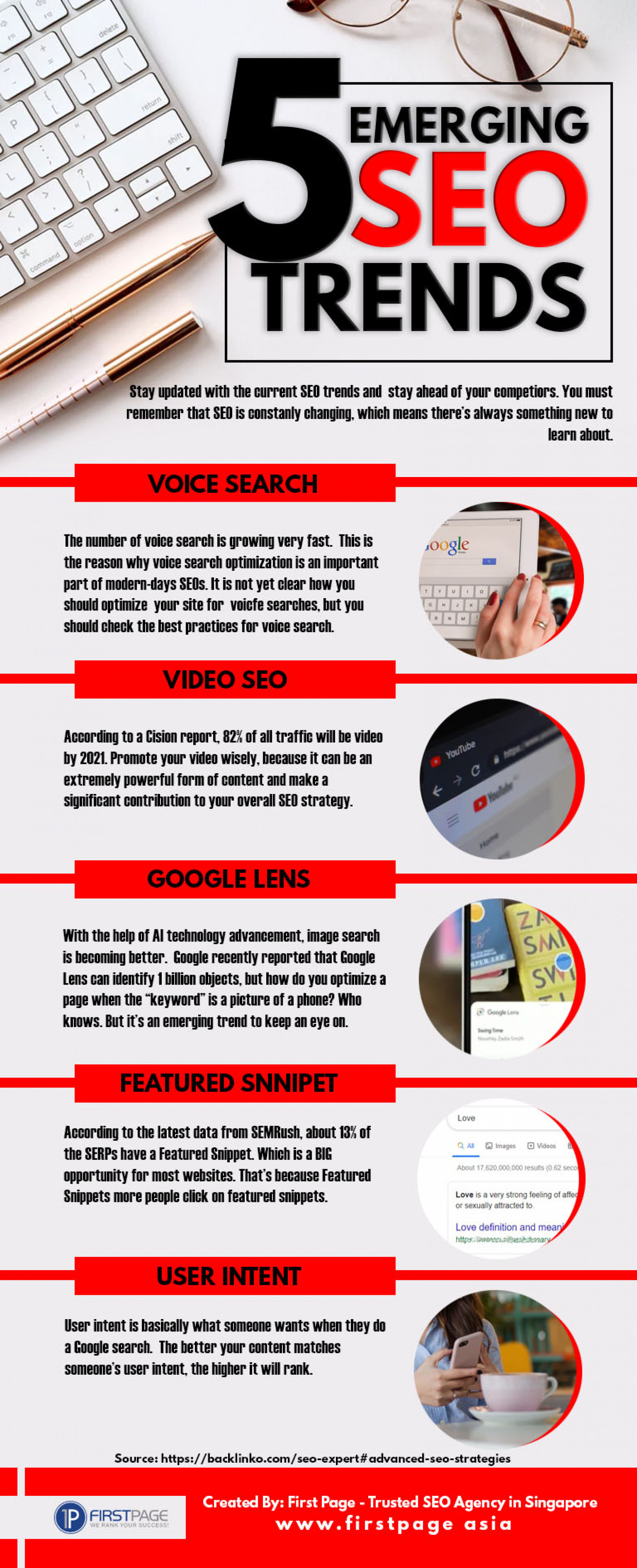 5 Emerging SEO Trends You Should Know Infographic