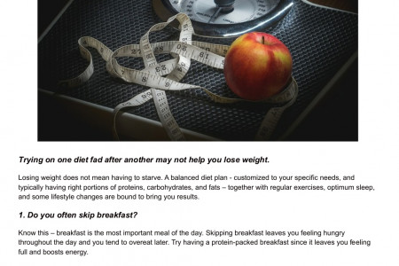 5 Factors that stop you from losing weight Infographic