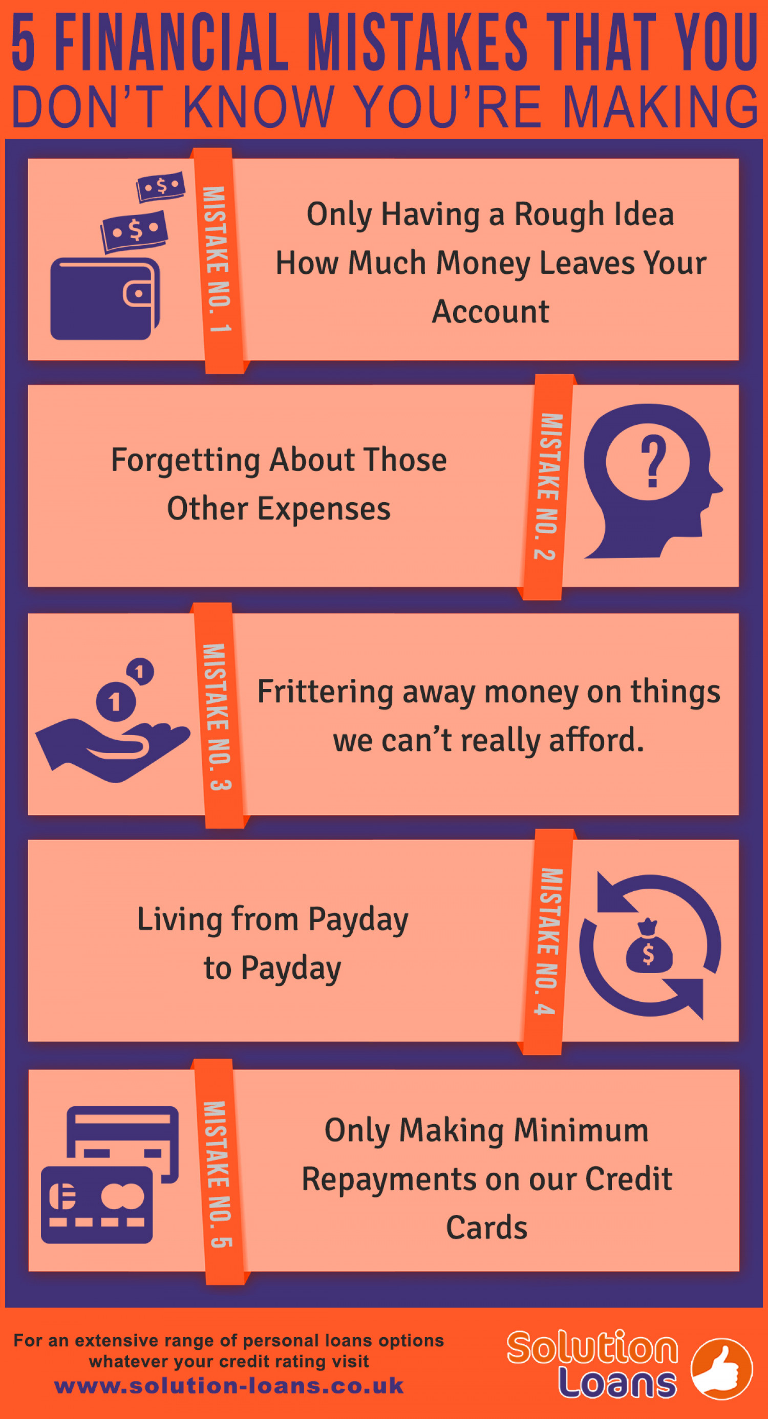 5 Financial Mistakes That You Probably Do Not Know About Infographic