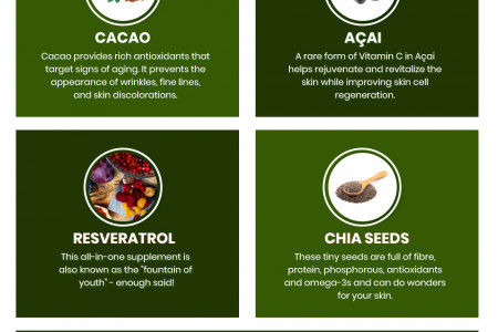 5 Foods For Better Skin Infographic